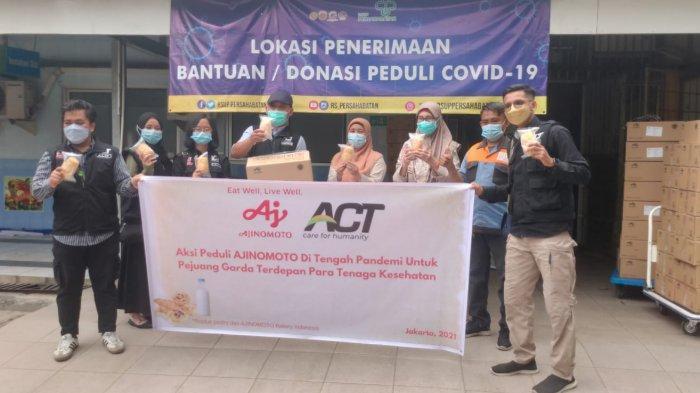 PT Ajinomoto Indonesia Gandeng (ACT) Berikan Donasi untuk Tenaga Medis