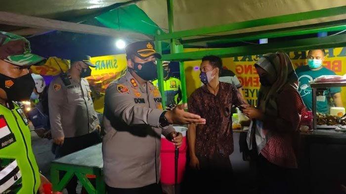 Patroli Skala Besar Sosialisasi Kelonggaran Saat Perpanjangan PPKM di Kabupaten Mojokerto