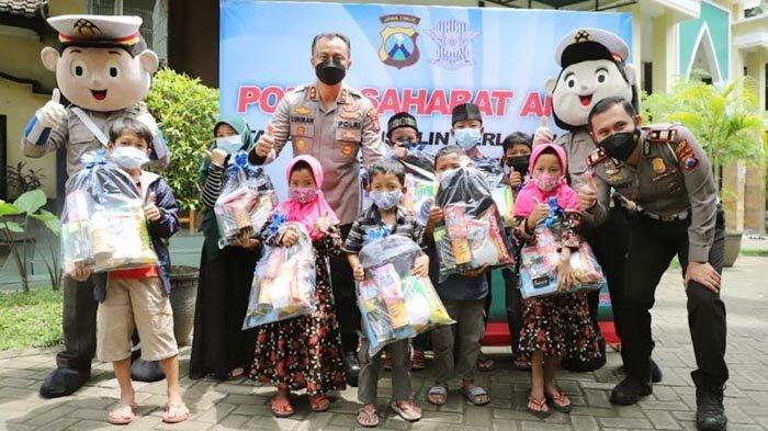 Satlantas Polres Kediri Angkat Asuh 200 Anak Yatim Piatu Terdampak Covid-19