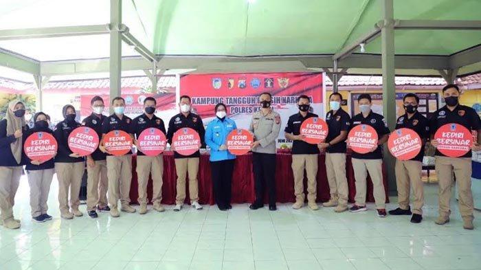 Intensifkan Pencegahan Narkoba, Polres Kediri Launching Kampung Tangguh Bebas Narkoba