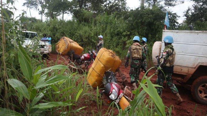Aksi Heroik Prajurit TNI Selamatkan 4 Warga Sipil yang Dirampok Pemberontak Kongo, ini Kronologinya