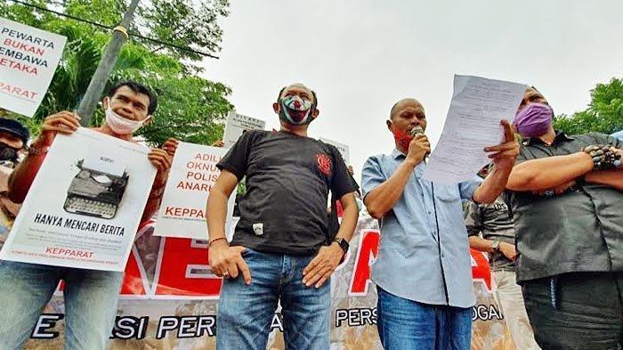KEPPARAT Gelar Aksi di Pasuruan, Sebut Kekerasan Terhadap Pers Adalah Mencederai Demokrasi