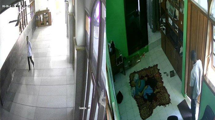 Aksi Maling di Masjid Gubeng Surabaya Terekam CCTV, Kecele, Nyolong Ponsel Rusak