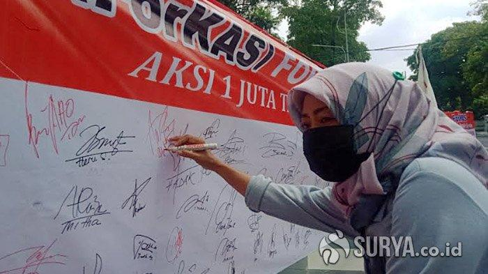 Serukan Pilwali Surabaya Damai, ForKAS Gelar Aksi Galang Satu Juta Tanda Tangan