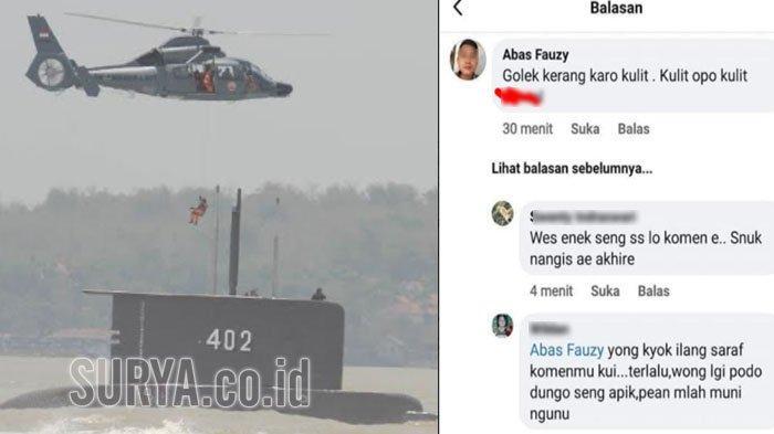 Polisi Tulungagung Uber Pemilik Akun Facebook yang Berkomentar Negatif Tentang KRI Nanggala 402
