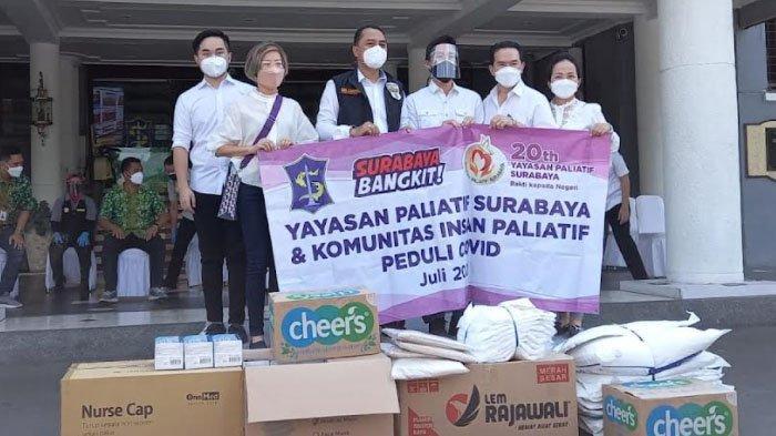 Bantu Penanganan Covid-19, Yayasan Paliatif Surabaya Sumbang 50 Ribu Alat Medis Hingga APD