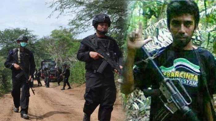 Sejumlah anggota Satgas memburu anggota Mujahidin Indonesia Timur (MIT) pimpinan Ali Kalora di Poso, Sulawesi Tengah.