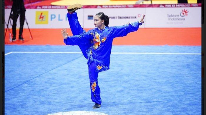 Hasil Wushu PON XX Papua 2021 - Bobbie Valentinus Gunawan dan Alisya Mellynar Raih Emas untuk Jatim