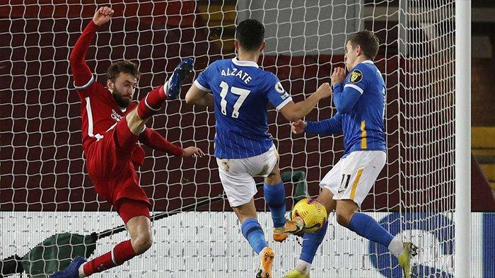 Hasil Liverpool vs Brighton: Skor Akhir 0-1, Tampil Tanpa Mane, The Reds Kalah Tipis