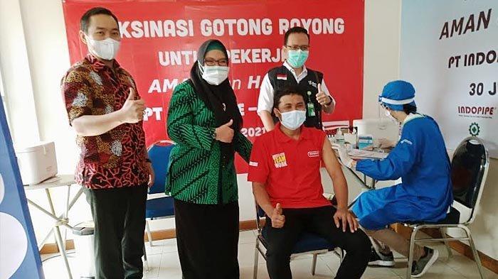 Baru Dua Pekan Dibuka, Lima Perusahaan Sudah Menggelar Vaksinasi Gotong Royong di Gresik