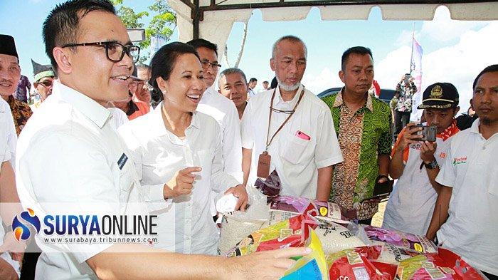 Menteri BUMN Borong Beras Merah Organik dan Jajanan Pasar Banyuwangi