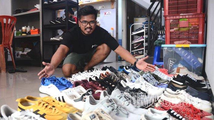 Modal Awal Cuma Rp 350 Ribu Prima Buktikan Jasa Cuci Sepatu Bukan Bisnis Ecek Ecek Surya