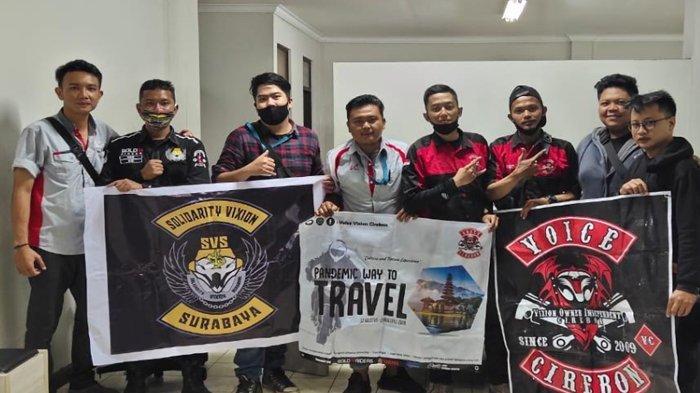 Seperti Ini Keseruan Komunitas Motor Solidarity Vixion Surabaya (SVS) Touring Kemerdekaan Jawa-Bali