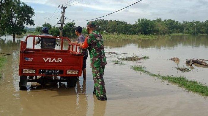 Banjir Luapan Kali Lamong Kembali Rendam Sejumlah Desa di Kabupaten Gresik, Akses Jalan Terputus