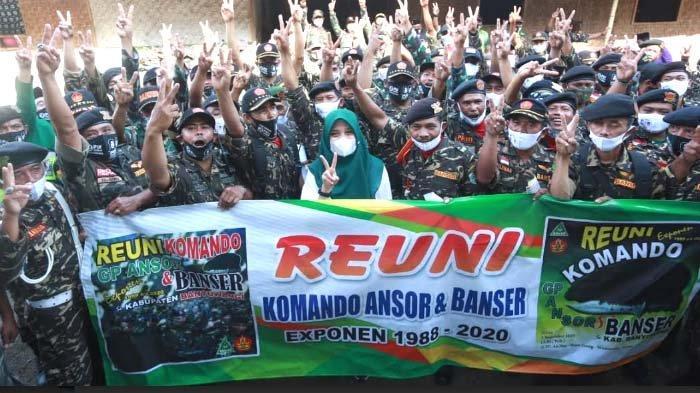 Komando Ansor dan Banser 1988-2020 Banyuwangi Deklarasi Dukung Ipuk - Sugirah