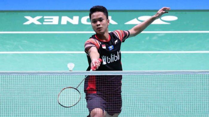 Hasil Drawing Malaysia Open 2021 - Anthony Ginting Bertemu Musuh Bebuyutan di Babak Pertama