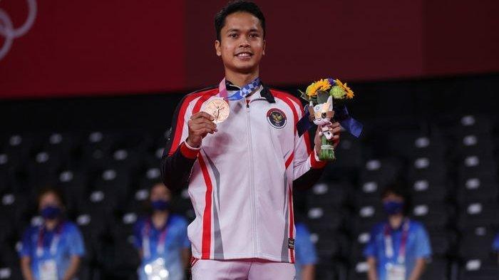 Anthony Sinisuka Ginting meraih medali perunggu lunggal putra Olimpiade Tokyo 2020