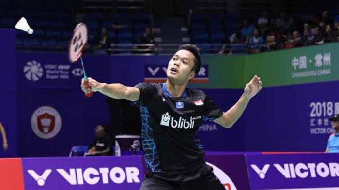 Jadwal Siaran Langsung dan Live Streaming Final China Open 2018 - Anthony Ginting vs Kento Momota