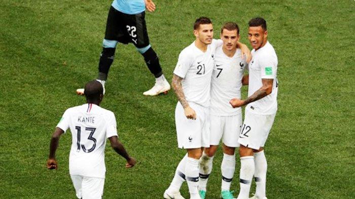 Hasil Piala Dunia 2018: Uruguay Vs Prancis 0-2, Les Bleus Gandakan Keunggulan lewat Griezmann