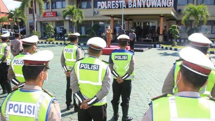 Bupati Ipuk Pimpin Apel Pengamanan Larangan Mudik di Banyuwangi