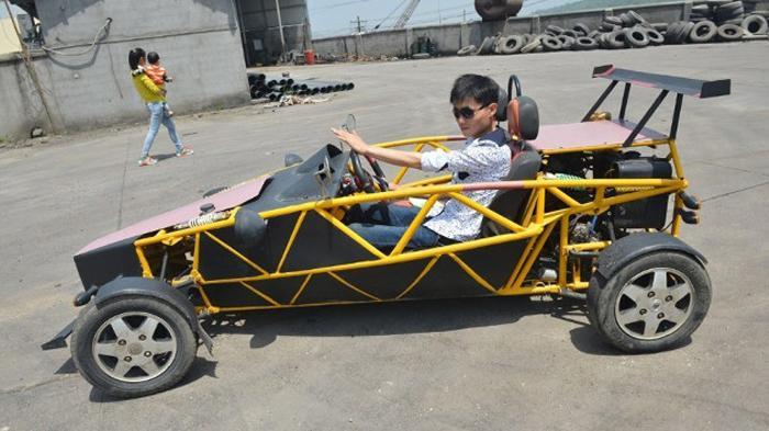 Keren, Mekanik Ini Berhasil Membuat Mobil Sport Dalam Waktu 21 Hari dan Biaya Rp 18 Juta