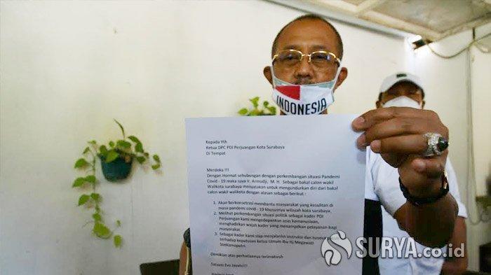 DPC PDIP Ungkap Hal Ini Setelah Tahu Armuji Mundur dari Bursa Bacawawali di Pilwali Surabaya 2020