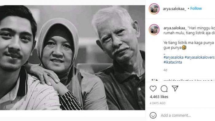 Arya Saloka dan orang tuanya