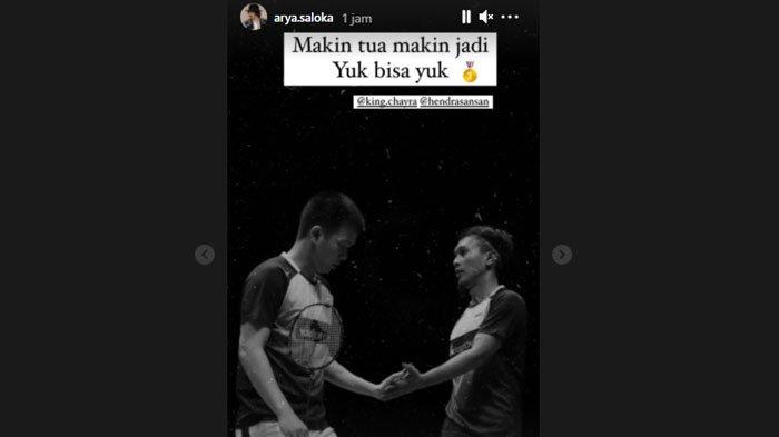 Arya Saloka memberi pujian ke pasangan ganda putra Indonesia Ahsan/Hendra