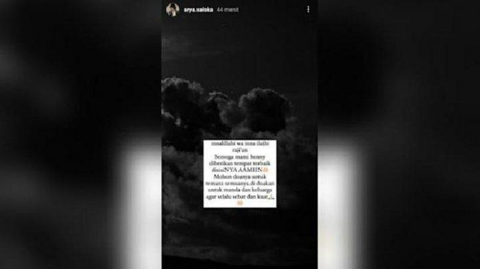 Arya Saloka mengunggah pesan duka untuk Amanda Manopo.