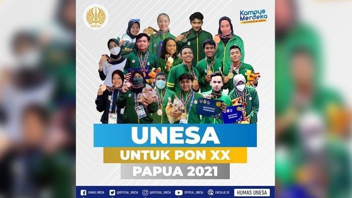 Atlet dari Unesa Boyong Sembilan Emas, Jatim Naik ke Posisi Dua Pada PON XX Papua 2021