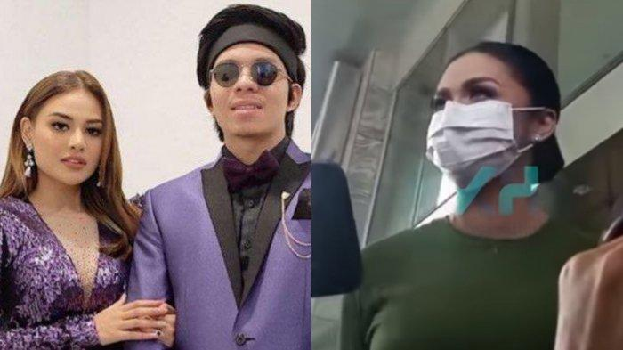Atta Halilintar dan Aurel Hermansyah (Kiri), Krisdayanti (Kanan).