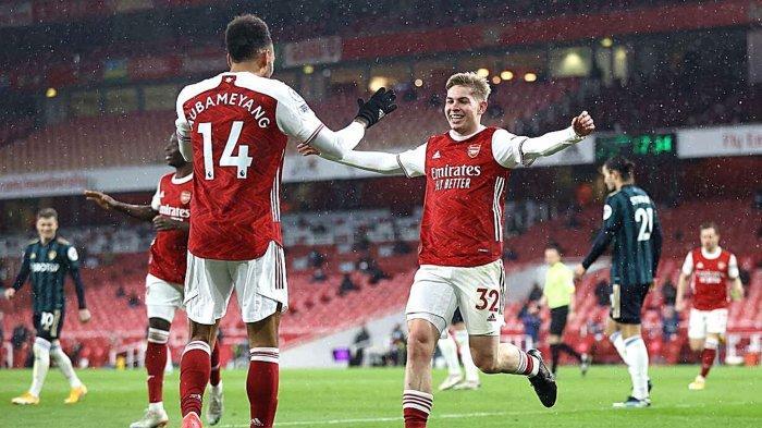 Hasil Arsenal vs Leeds: Skor Akhir 4-2, The Gunners Menang, Aubamayang Cetak Hattrick