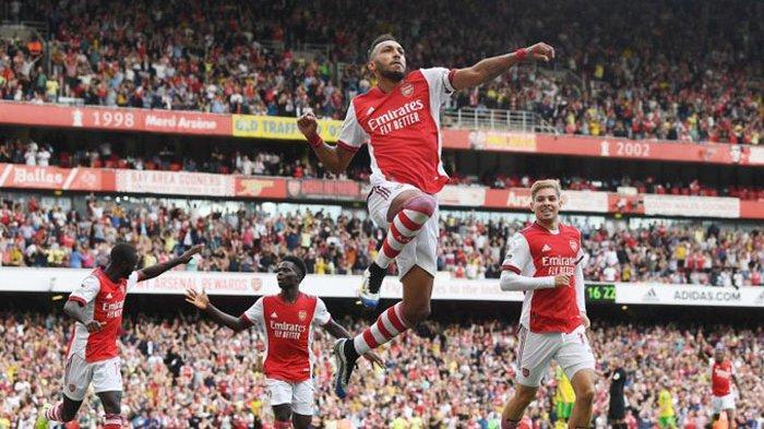 Hasil Liga Inggris, Arsenal Akhiri Tanpa Menang Berkat Gol Aubameyang dan Keluar Zona Degredasi