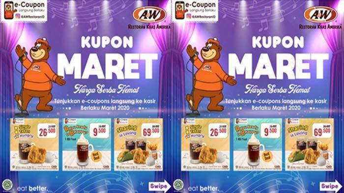 A&W® Restaurants Indonesia Hadirkan Maret e-Coupon 2020