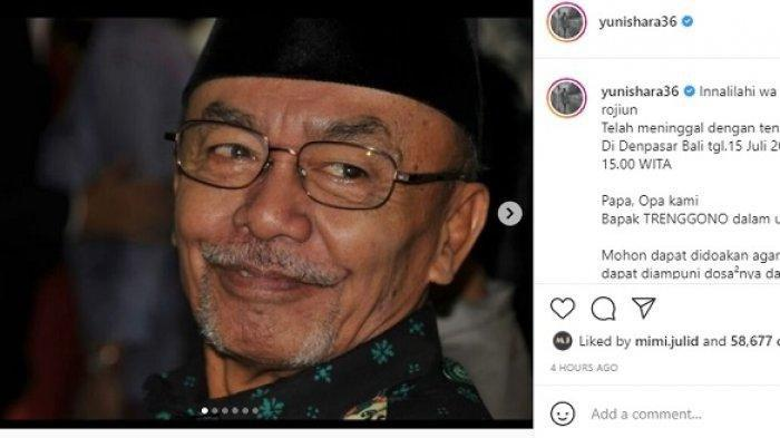 Alm Trenggono, ayah Yuni Shara dan Kridayanti, meninggal di Bali Kamis (15/7/2021) sore