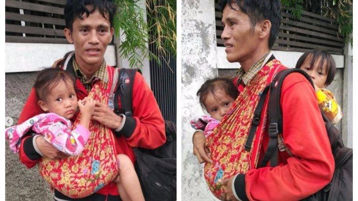 Seorang Ayah Tanpa Alas Kaki, Ingin Pulang ke Kampung Halaman