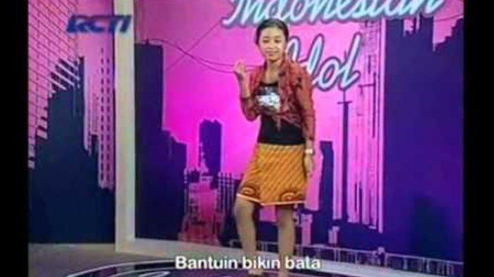 Ayya Renita saat mengikuti ajang Indonesian Idol.