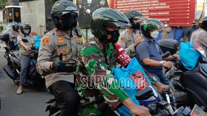 PPKM Darurat Diperpanjang, Polresta Malang Kota Gelontorkan Paket Bantuan Sosial
