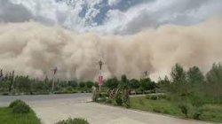 VIDEO: Ngeri Luar Biasa, Badai Pasir di China, Gedung-gedung Tinggi seperti Lenyap Tergulung