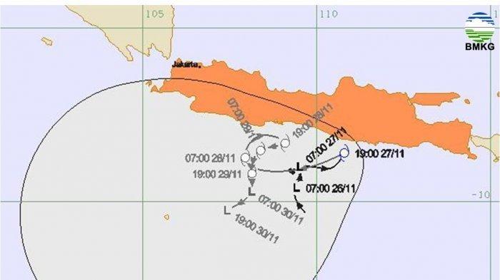 BMKG : Badai Siklon Tropis Cempaka yang Tewaskan 11 Warga Pacitan Masih Melanda 2 Hari Lagi