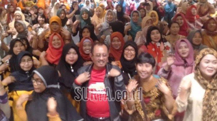 Saat Cak Ji Ajak Ribuan Bumantik Tambaksari Surabaya Joget Bareng Sembari Sosialisasi