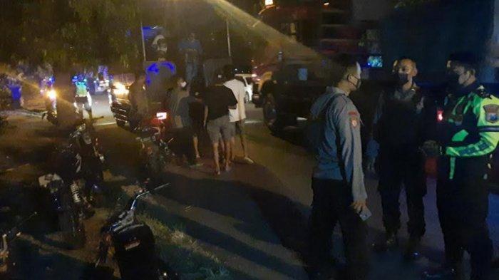 Aksi Balap Liar di Jalan Soekarno-Hatta Tuban Kocar-Kacir saat Polisi Datang