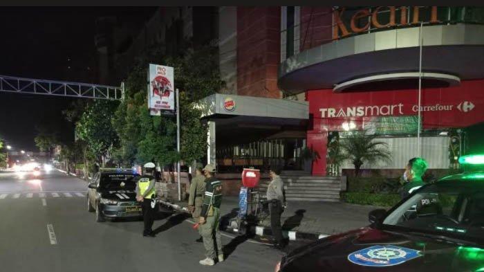 Polisi dan Satpol PP Halau Geng Motor yang akan Gelar Balap Liar di Jalan Pemuda Kediri
