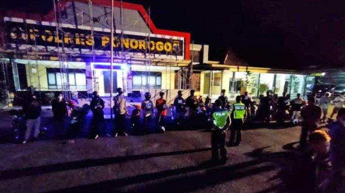 Polres Ponorogo Amankan 18 Kendaraan saat Razia Balap Liar