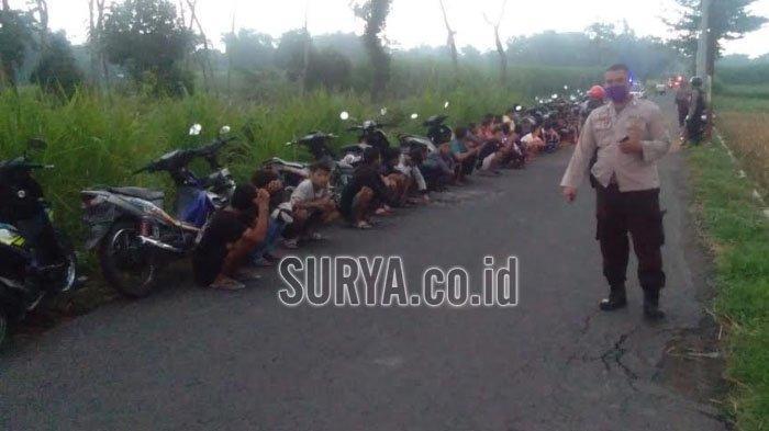 Polisi Tangkap Remaja yang Balap Liar di Kabupaten Kediri, Berhasil Sita 11 Sepeda Motor