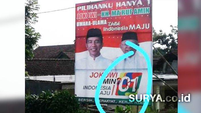 Baliho Jokowi-Maruf Dicoret Tulisan 'PKI' Ditemukan di Jombang
