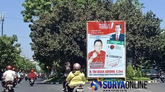 Baru Jalan Empat Hari, Caleg di Surabaya Sudah Langgar Aturan Kampanye