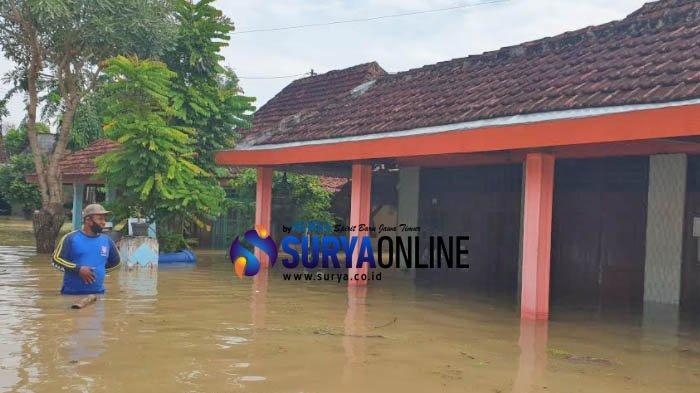Desa Banyulegi, Kecamatan Dawarblandong, Kabupaten Mojokerto, Jadi Kawasan Terparah Banjir