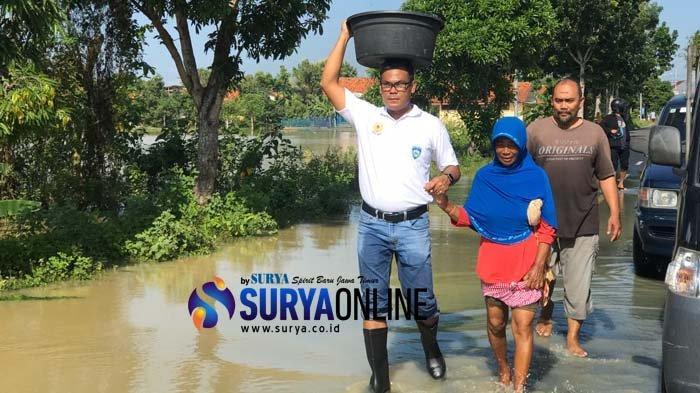 Banjir di Pamekasan Belum Surut, Ini yang Dilakukan Kapolres
