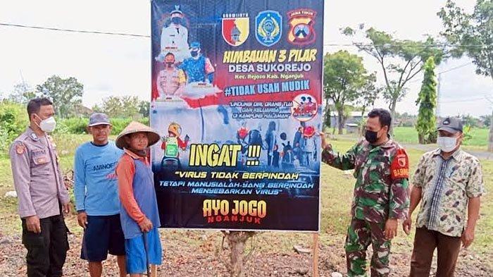 Semua Desa di Nganjuk Memasang Banner Imbauan Larangan Mudik Lebaran 2021